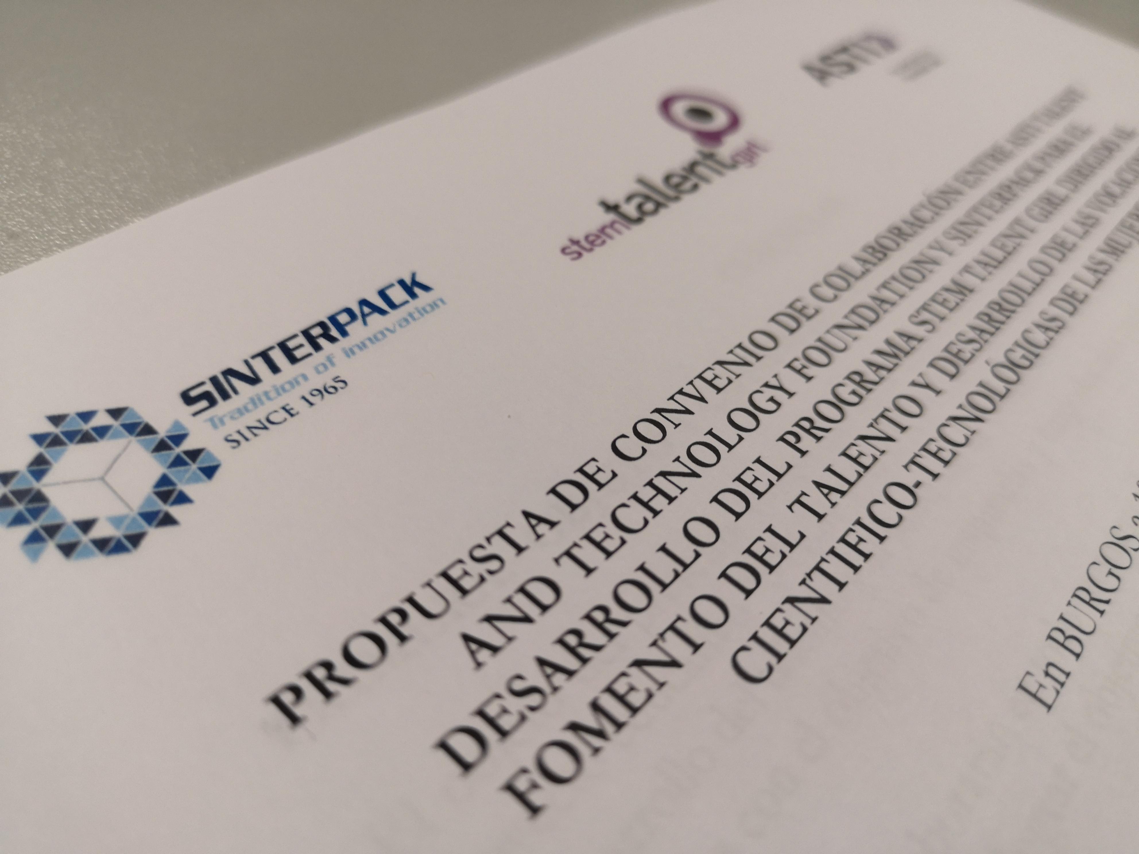 Sinterpack se une al proyecto ´Stem Talent Girl´ como patrocinador plata
