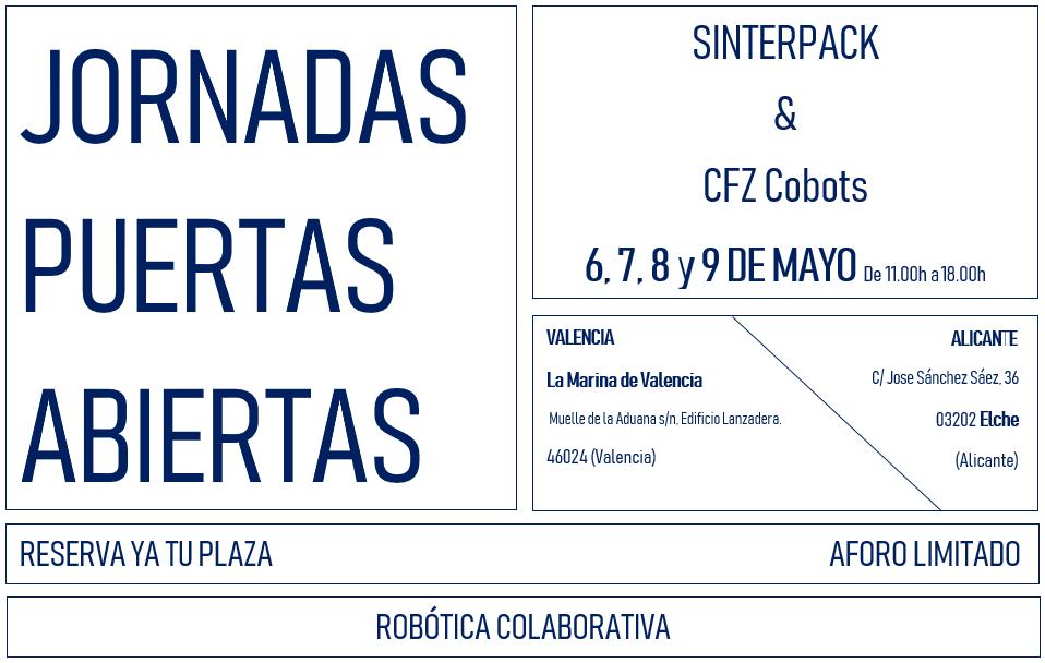 Sinterpack celebrará los próximos días 6, 7, 8 y 9 de mayo dos jornadas de puertas abiertas en Valencia y Alicante
